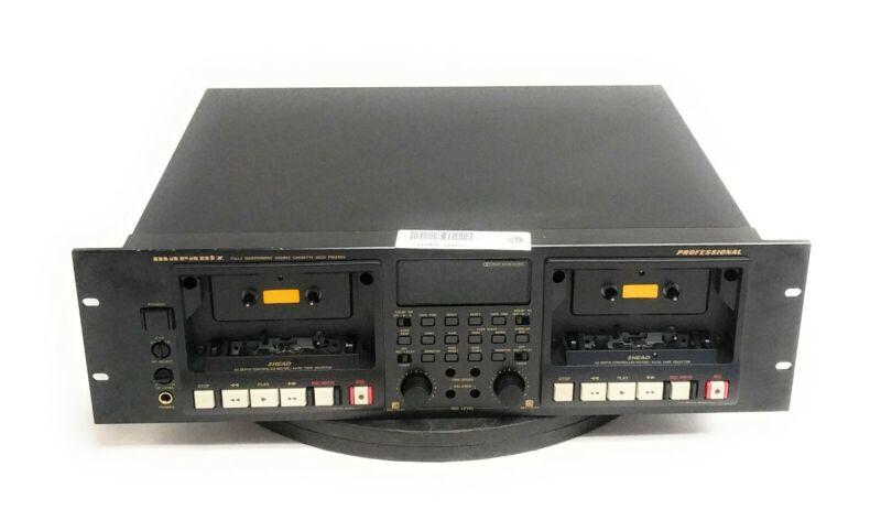 Marantz PMD520 Professional 3-Head Double Cassette Deck