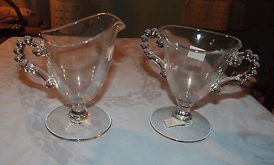Candlewick by Imperial footed creamer and sugar bowl