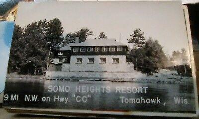 Postcard Tomahawk Wisconsin Wis Wi Resort Wi Resort