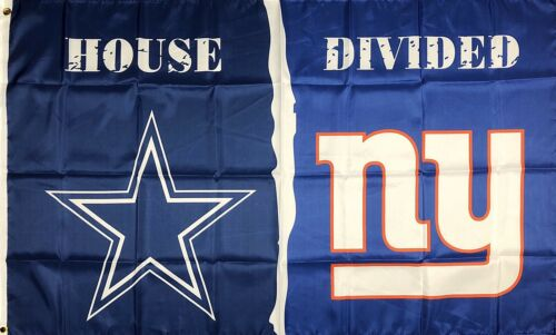 Dallas Cowboys vs New York Giants House Divided Flag 3x5 ft