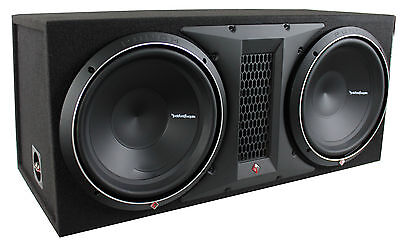 "Rockford Fosgate Knock P1-2X12 Dual 12"" 1000W Loaded Subwoofer/Sub+Enclosure/Box"