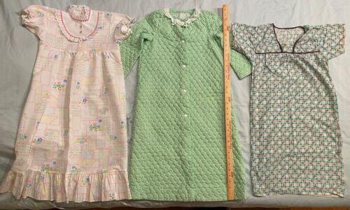 Vtg Lot of 3 Pajama Quilted Robe Girls Nightwear Variety