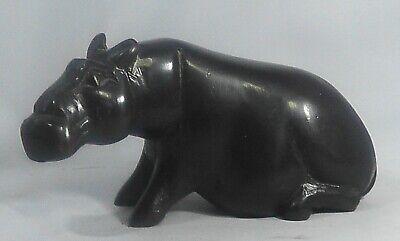 Antique African Hand carved Hippo. African blackwood, (Ebony) Tanzania / Kenya.