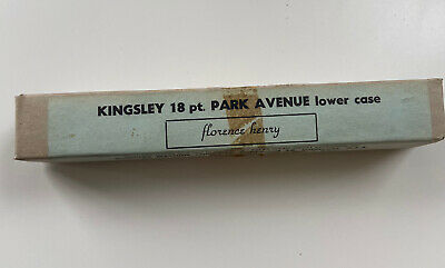 Kingsley Machine Type Park Avenue Hot Foil 18pt Lower Case