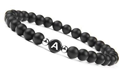GOOD.designs Perlenarmband mit Buchstabe Freundschaft Pärchen Armband für 2  ()