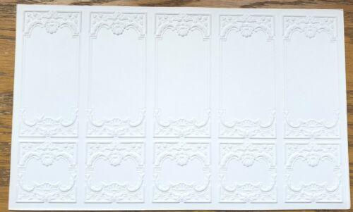 Dollhouse Miniature Wall Panels Embossed Textured Foam Board 1:12 Scale 34937