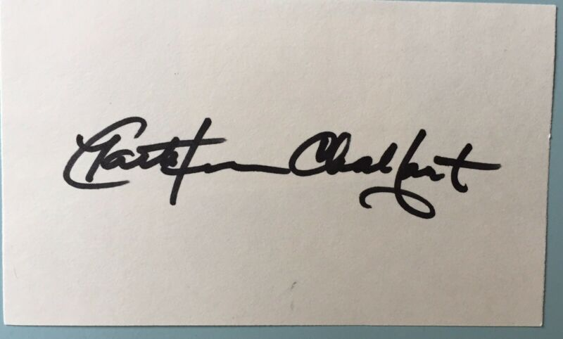 "Kathleen Chalfant Signed Index Card 3""X5""  Wit Angels In America  TV The Affair"