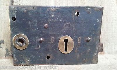 Old Victorian Reclaimed Metal Right-Handed Rim Door Lock