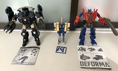 Transformers KO Lot, Evasion Optimus Prime, G1 Blitzwing, Oversized Barricade