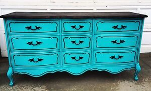 2 Piece French Provincial Dresser + Nightstand