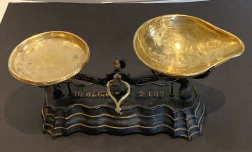 Rare Cast Iron and brass Serpetine Base with 2 Brass  baskets,