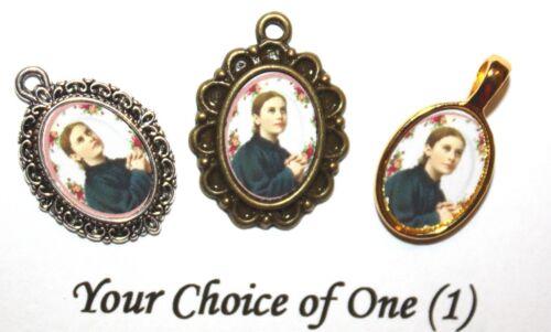 St. GEMMA GALGANI Catholic Mini-Medal/Add to Rosary/Antique Silver/Gold/Bronze