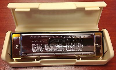 HOHNER Made IN Germany BIG River HARP w/CASE Key of C GERMAN Harmonica FREE Book on Rummage