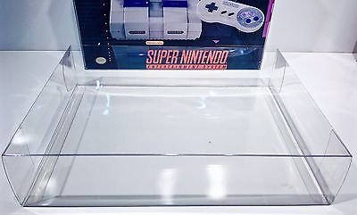1 Console Box Protector For SNES CONTROL SET   Super Nintendo Display Case Boxes