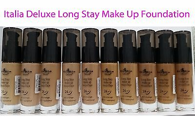 Italia Deluxe Long stay Make up Foundation - Waterproof, SPF15, Full Coverage