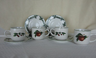 (Citation Cups & Saucers The Cades Cove Collection Set of 4 C&S  EPOC)