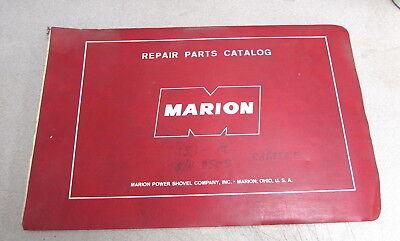 Marion Power Shovel Company 151-m Repair Parts Catalog Manual 8508