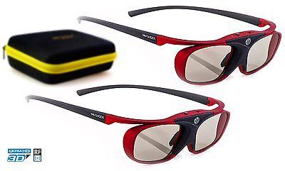 2x Hi-SHOCK® RF Pro 3D Brille Scarlet Heaven für RF Beamer Sony EPSON   Dualcase
