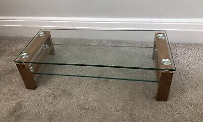 Hartley's 2 tier glass monitor/screen riser shelf/stand, suits PC/IMAC/TV/PS4