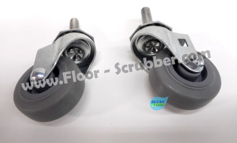 (2) Swivel Caster Assembly, Squeegee Caster Wheel 1006343