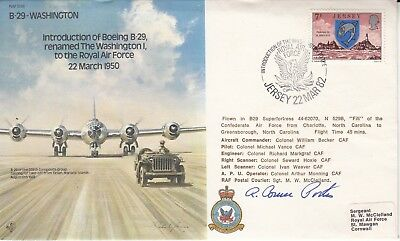 B39a Introduction Boeing B.29 renamed The Washington 1 Signed R Porter USA Pilot
