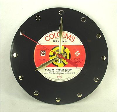 The Monkees Pleasant Valley Sunday - Recycled Vinyl Record Clock 45rpm 7