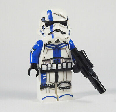 Custom Star Wars minifigures Stormtrooper Commander on lego brand bricks