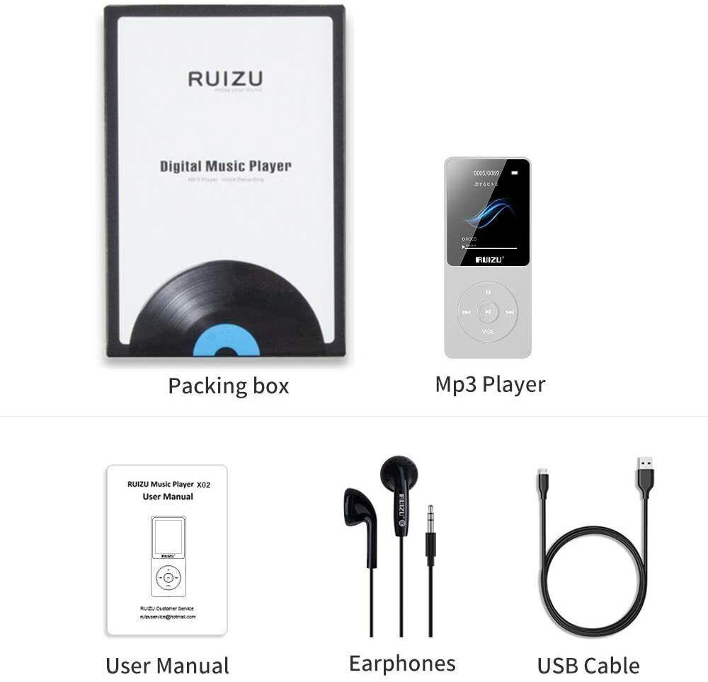 RUIZU D16 Bluetooth MP3 MP4 Player Portable Audio Video Musi