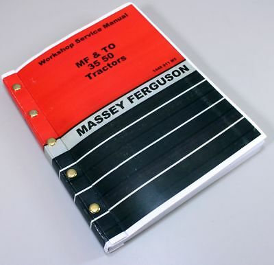 Massey Ferguson To35 Tractors Service Repair Shop Manual Workshop Book 290pgs