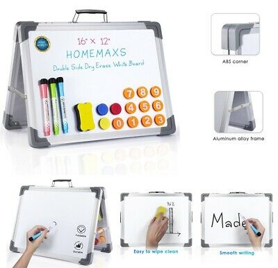 Magnetic Whiteboard Dry Erase Board Aluminum Frame A-type Stand White Board Us