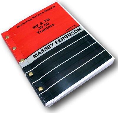 Massey Ferguson Mf To 35 50 Tractor Service Repair Manual Technical Overhaul