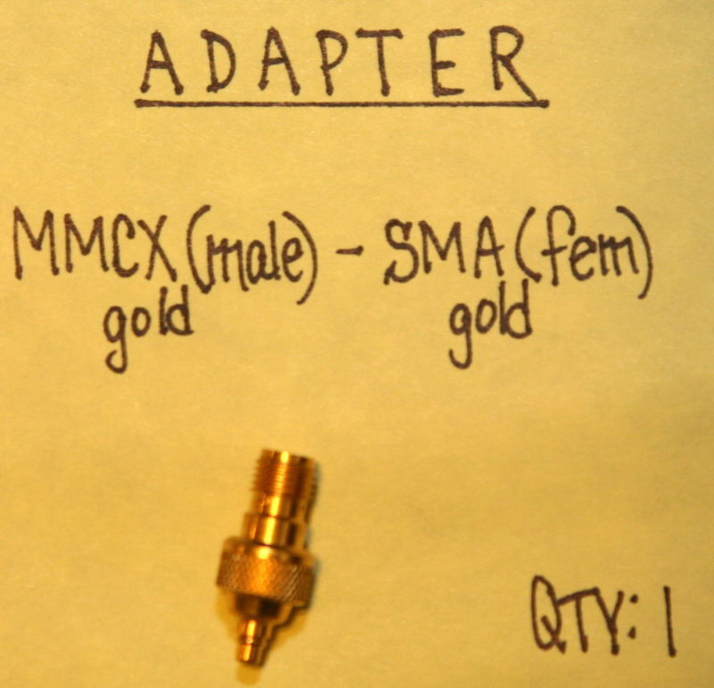 MMCX(Male) to SMA(Female) Gold Adapter