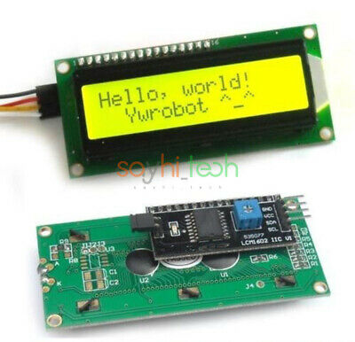 Yellow 1602 16x2 Character Lcd Display Iici2ctwispi Serial Interface Module