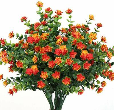 Artificial Flowers Outdoor UV Resistant Plants Shrubs Fake Bushes Greenery 5Pack