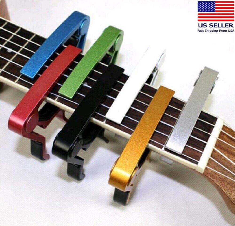 Guitar Capo Acoustic Clip Guitar String Instrument Clamp Fret Electric US Capos