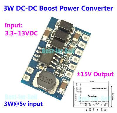 15v-15v Dual Power Supply Module 3w Dc-dc Step Up Boost Converter 3.3v-12v In
