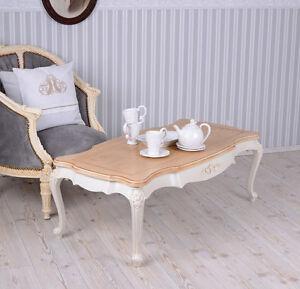 wohnzimmertisch villa vintage couchtisch weiss tisch shabby chic ebay. Black Bedroom Furniture Sets. Home Design Ideas