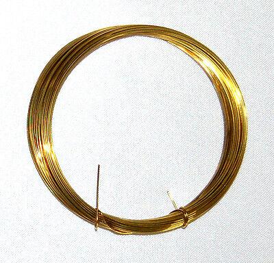 (0,66 €/m ) Messingdraht Ø 1,2 mm, Länge 3 m