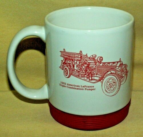 FIRE TRUCK 1923 AMERICAN LAFRANCE TRIPLE COMBO PUMPER MUG FIREHOUSE EXPO CUP.