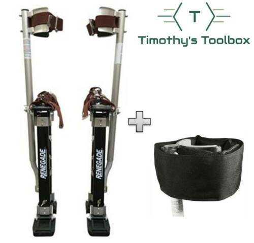 "Renegade Pro Drywall Stilts 24"" - 40"" + Padded Comfort Straps"