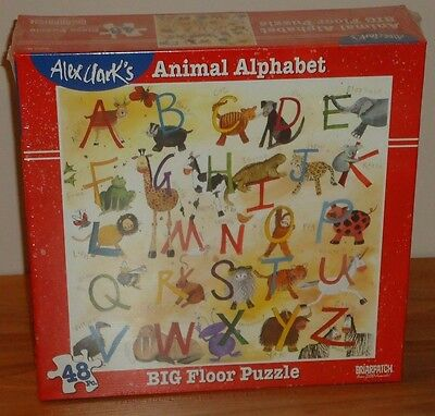 ANIMAL ALPHABET 48 piece Big Floor Puzzle NEW by ALEX CLARK Briarpatch
