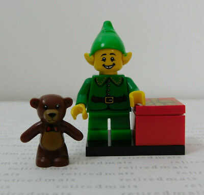 LEGO 71002 Minifigure Series 11 HOLIDAY SANTA'S ELF Christmas Teddy Bear Minifig