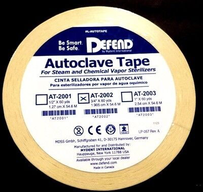 Autoclave Sterilization Tape 34 60yd Per Roll At-2002 Dental Defend Tapes