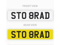 Private number plate ST08 RAD BRAD RAD BRADLEY Fiesta focus Ford ST0 8RAD
