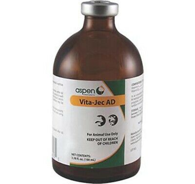 Vita Jec Ad 100 Ml Supplemental Source Of Vitamins A And D Cattle Sheep Swine