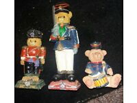 3 bear ornaments
