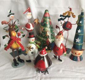 Christmas - tin figures and musical tin tree