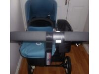 BUGABOO DONKEY TWIN (PETROL BLUE) IN EXCELLENT CONDITION WAS £1,400 NOW REDUCED TO £1,200!!