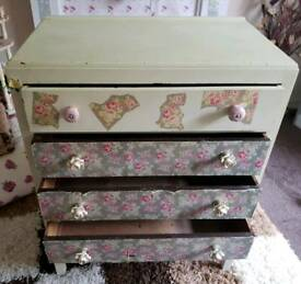 Reduced!! Shabby chic drawers - collection only Maybank