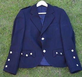 Men's Black Wool Andrew Douglas Argyll Kilt Jacket 36R